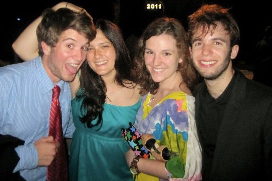 Ted, Morgan, Christine, and Simon ('14) at Campus Dance 2011.