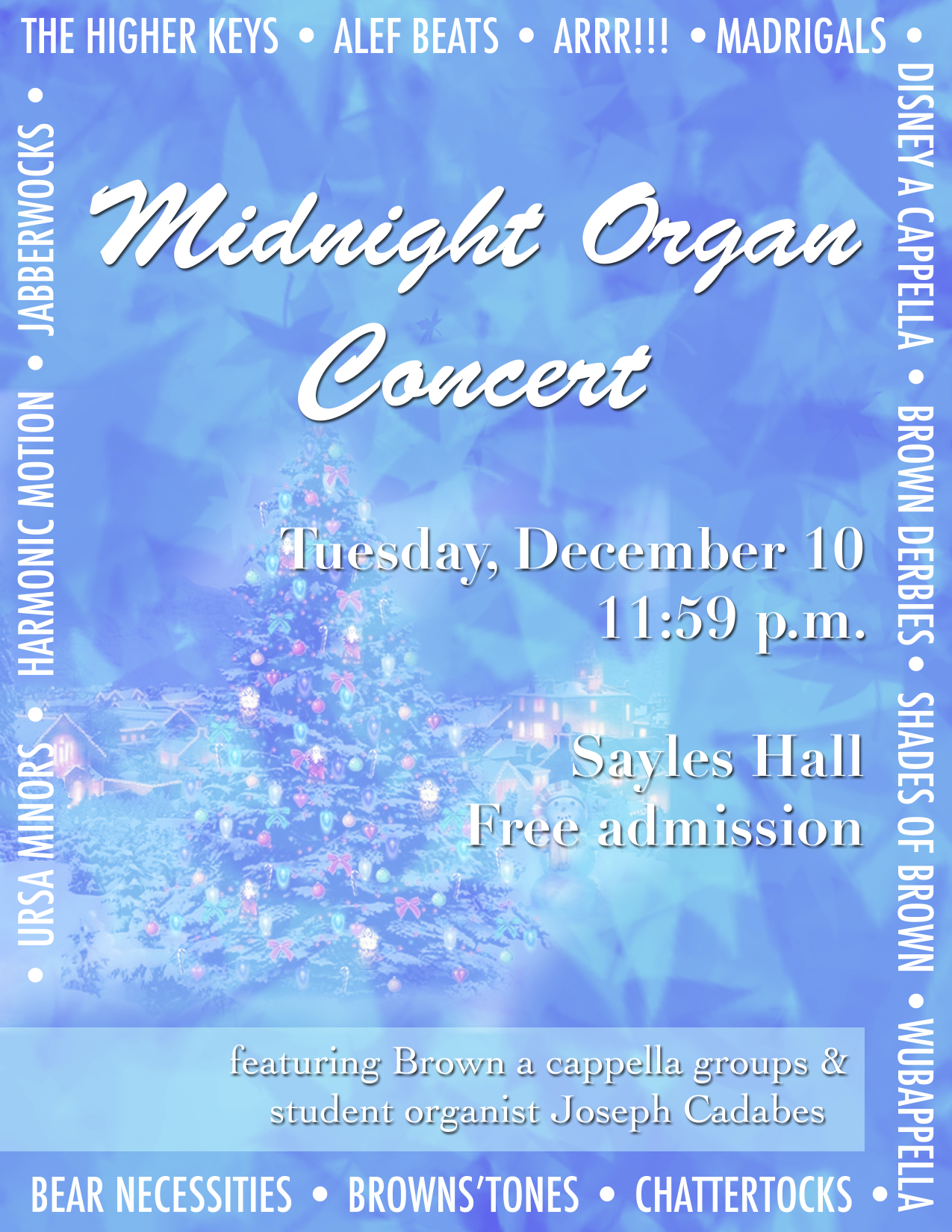 Holiday Midnight Organ Concert